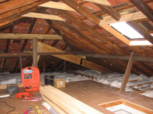 Roof Space Conversion. Storage Renovation